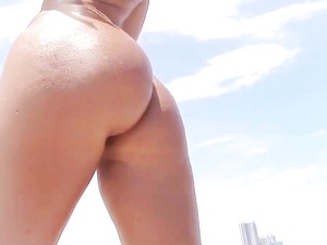 Teen Stripping On The Beach And Fucking At The Pool