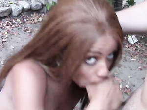 Hot Whore Fucked Outdoors By The Big Dick Guy