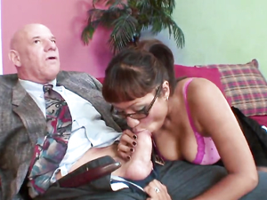 Thick Old Dick Gives The Young Lady Pleasure