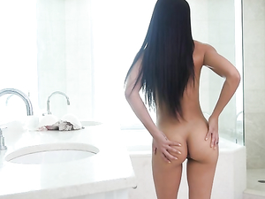 Babe Soaps Up Her Titties And Gets Banged In The Bathroom