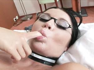 Kinky Corset And Fishnets On A Hot Euro Fuck Slut