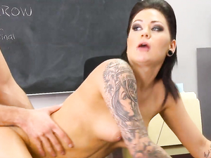 School Punk Slut And A Preppy Guy Fucking