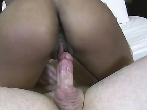 Thick Interracial Facial For A Naughty Black Girl