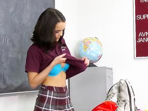 Hottest Tits In Class On This Hardcore Schoolgirl Slut