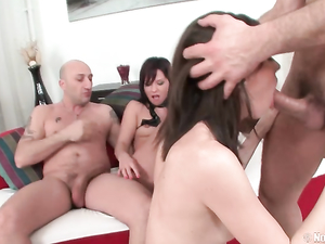 Crazy Fuck Foursome With A Couple Of Young Anal Whores