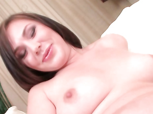 Sweet Masturbating Girl Sucks On A Throbbing Cock