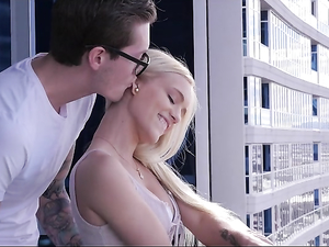 His Condo With A View Turns On This Slutty Teen