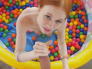 Petite Young Redhead Spreads For Big Cock Sex