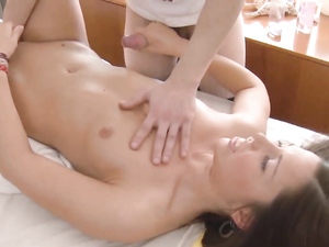 Great Ass On A Teenage Massage Client That Loves Dick