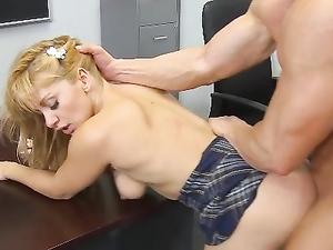 Hot Booty On His Dick Taking Schoolgirl Slut