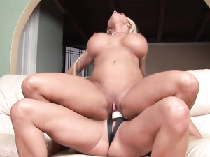 Big Clit Milf Fucked By A Thick Strapon Dildo
