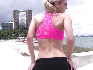 Workout Babe Enjoys Hardcore Cardio With A New Man