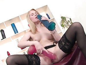 Sweet Blonde Is Actually A Slut For Huge Dildo Sex