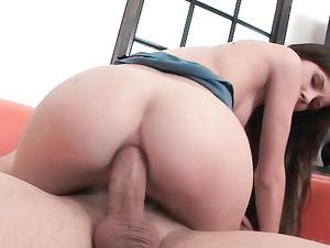 Hard Ass Fucking Makes Her Teenage Hole Gape