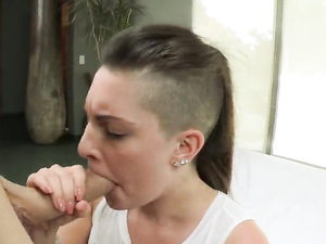 Cutie With A Big White Booty Bent Over For Sex