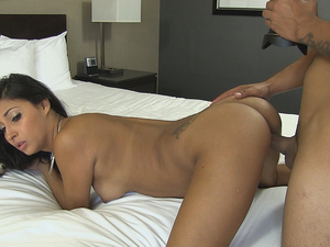 Gorgeously Made Up Girl Fucks In A Hotel Room