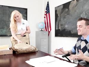 Dirty Schoolgirl With Great Tits Fucks The Teacher